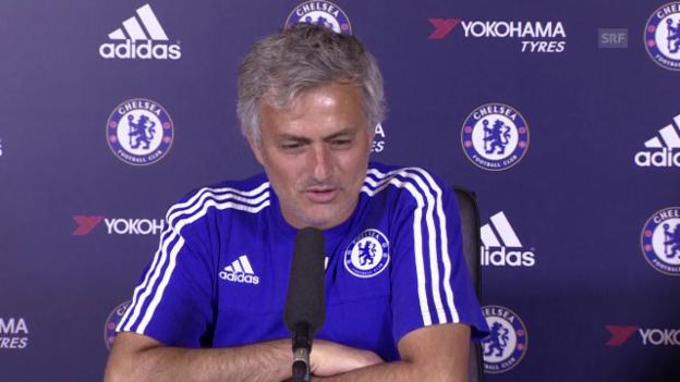 Video «Fussball: Pressekonferenz mit Jose Mourinho (Englisch, Quelle: SNTV)» abspielen