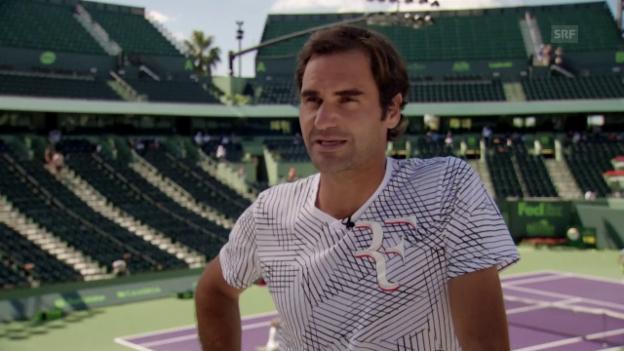 Video «Federer will «Atmosphäre in Miami aufsaugen» (engl.)» abspielen