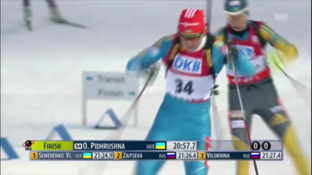 Video «Biathlon-WM: Sprint Frauen» abspielen