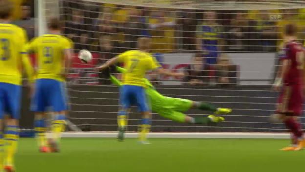 Video «Fussball: EM-Quali, Schweden - Russland» abspielen