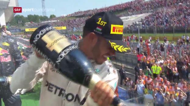 Video «Hamilton mit Rekord-Sieg bei Mercedes-Machtdemonstration» abspielen