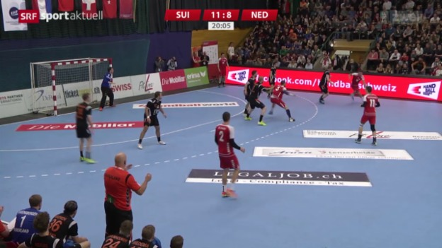 Video «Schweizer Handballer mit unnötiger Niederlage» abspielen