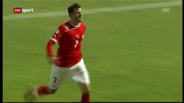 Video «Tranquillo Barnetta vor dem Spiel gegen Island («sportaktuell»)» abspielen