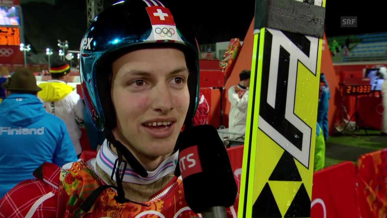 Sotschi: Skispringen Qualifikation Normalschanze, Interview mit Gregor Deschwanden