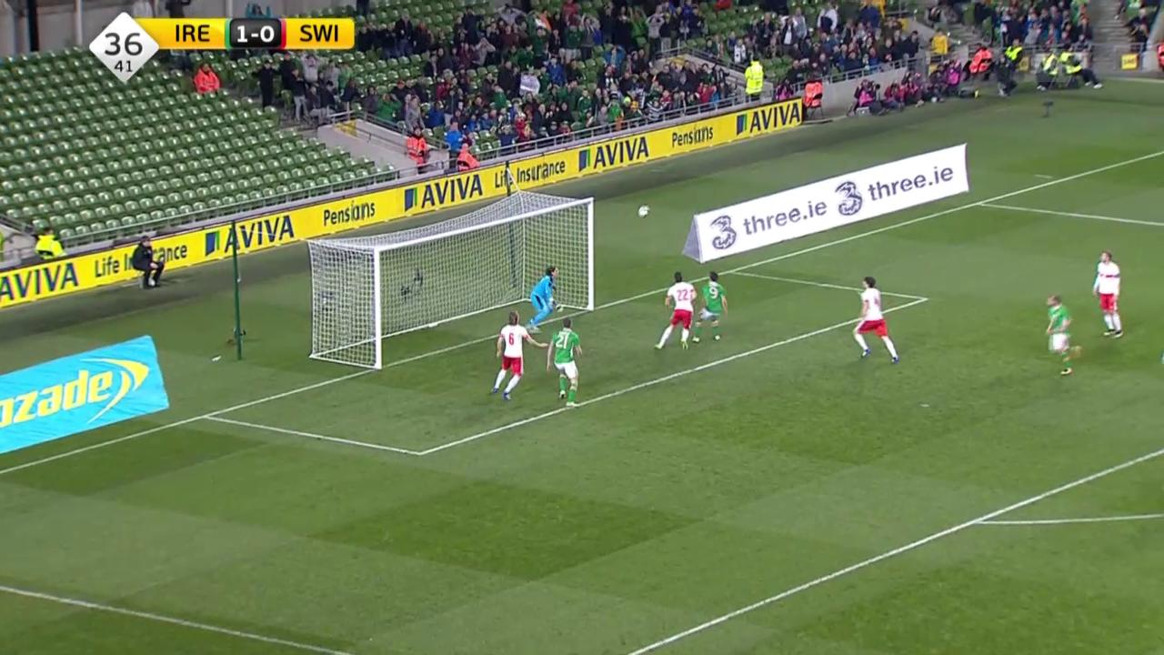 Fussball: Live-Highlights Irland - Schweiz