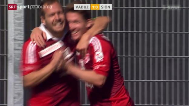 Video «Fussball: Vaduz - Sion» abspielen