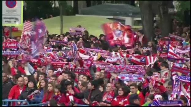 Video «Fussball: Cupfeier Atletico Madrid» abspielen