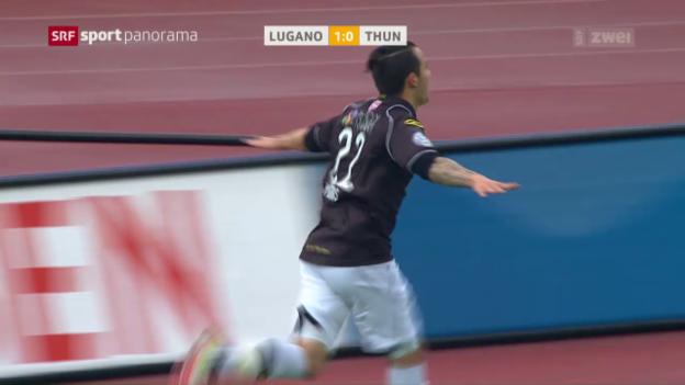 Video «Lugano stoppt gegen Thun den freien Fall» abspielen