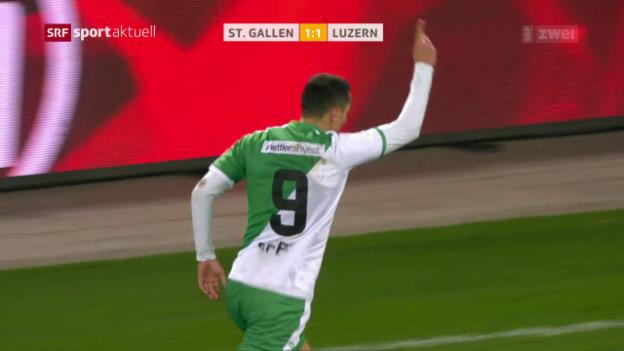 Video «Tafer rettet St. Gallen einen Punkt» abspielen