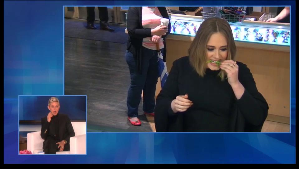 Adele spielt einem Verkäufer einen Streich