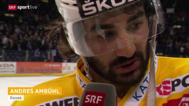 Video «Eishockey: NLA-Playoff-Final, Spiel 1, ZSC - HCD, Andres Ambühl im Interview» abspielen