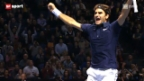 Video «Federer vor den ATP Finals in London» abspielen