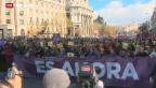 Video «Spanier protestieren gegen Sparpolitik» abspielen