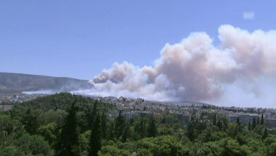 Dramatische Bilder der Brände um Athen (unkommentiert)