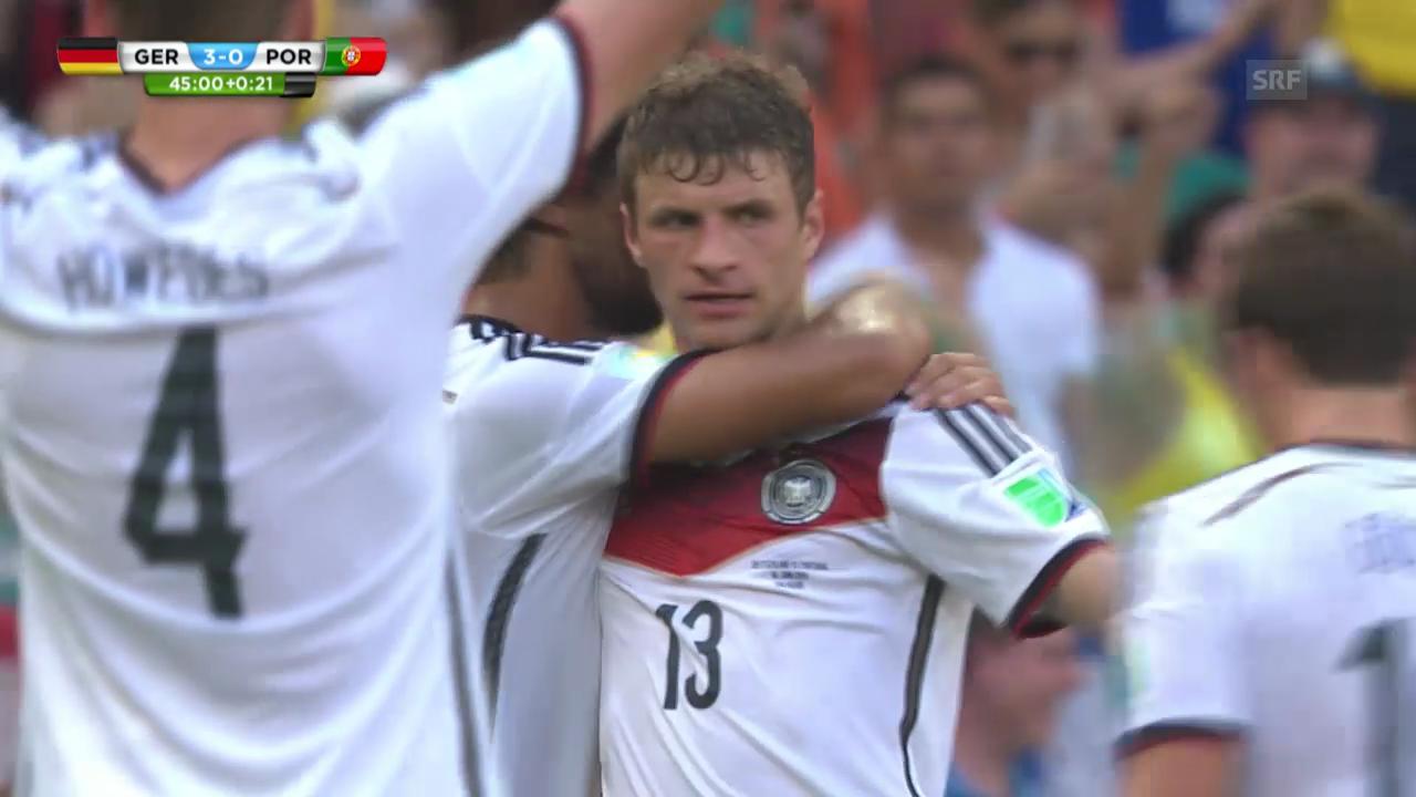 Deutschland - Portugal: Die Tore von Thomas Müller