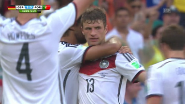 Video «Deutschland - Portugal: Die Tore von Thomas Müller» abspielen
