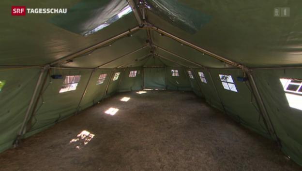 Video «Zelte für Flüchtlinge» abspielen