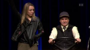 Video «René Rindlisbacher erstmals mit seiner Tochter auf der Bühne» abspielen