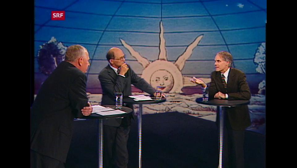 Jüngel spricht kurz nach dem 11. September mit Moritz Leuenberger