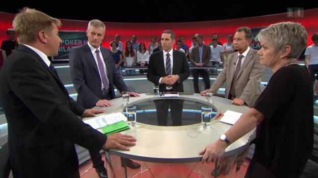 Video ««Arena»: Poker um Bilaterale - Wirtschaft alarmiert» abspielen