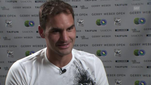 Video «Roger Federer, gibt es wieder ein 6:0, 6:0?» abspielen