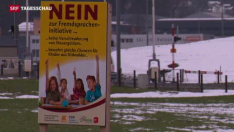 Video «Nidwalden hält an Frühfranzösisch fest» abspielen