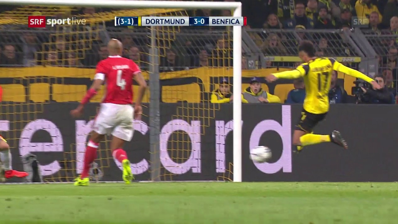 Drei «Auba»-Tore gegen Benfica