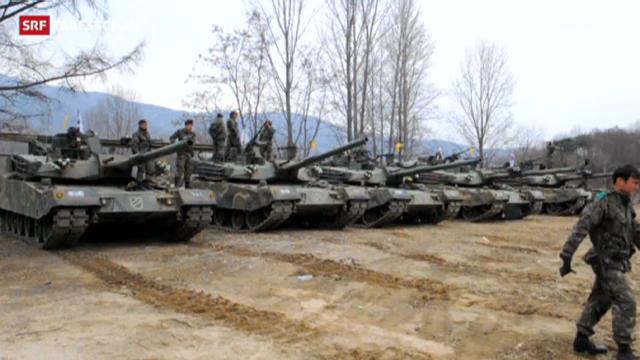 Südkorea ist bereit für einen Gegenangriff (Tagesschau, 1.04.2013)