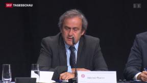 Video «Platini fordert Blatters Rücktritt» abspielen