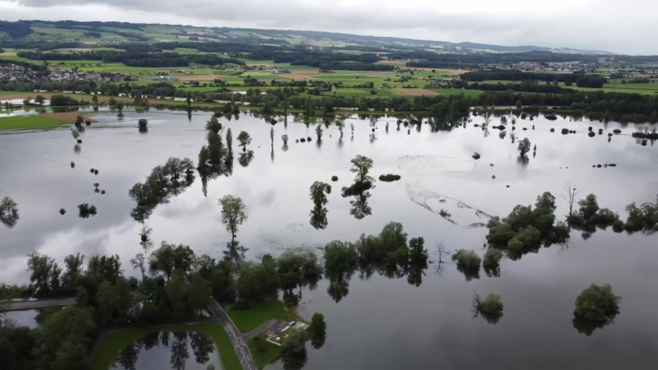 Hochwasser in Maschwanden/ZH, 15. Juli, Hans-Jürg Baum