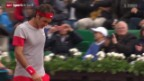 Video «Tennis: French Open, Federer - Schwartzman» abspielen