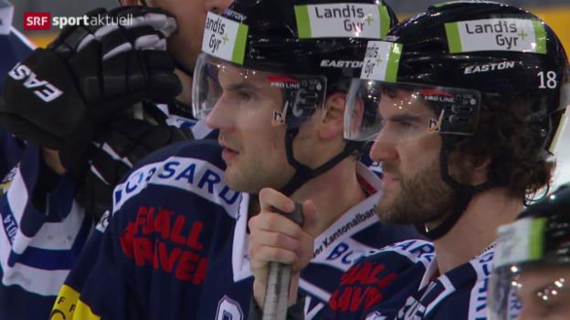 Video «Eishockey: Zug - Davos, Spiel 1» abspielen