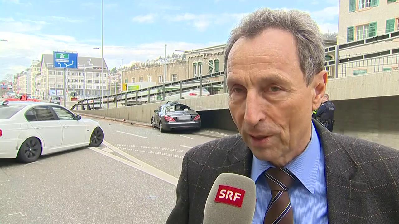 Stadtpolizei-Sprecher Marco Cortesi zum Unfall