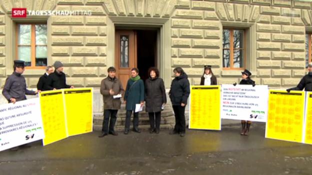 Video «Widerstand gegen öV-Pläne des Bundes» abspielen
