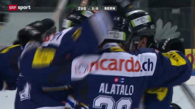 Video «Eishockey: Zug - Bern («sportaktuell»)» abspielen