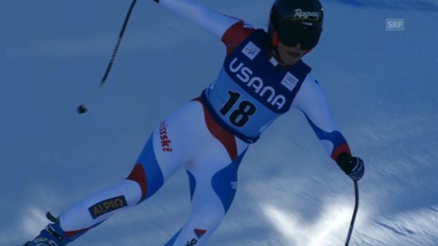 Video «Ski Alpin: Fahrt von Lara Gut beim Super-G in Beaver Creek» abspielen