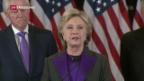 Video «Verliererin Hillary Clinton nimmt Stellung» abspielen