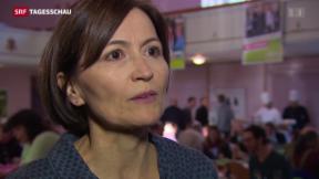 Video «Die Grünen trotz Wahlschlappe optimistisch» abspielen