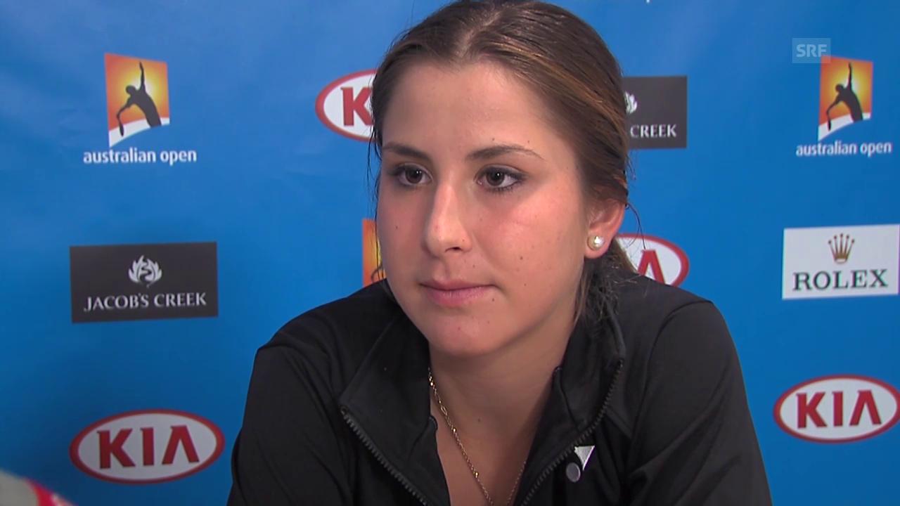 Bencic über ihre nächte Gegnerin Bondarenko