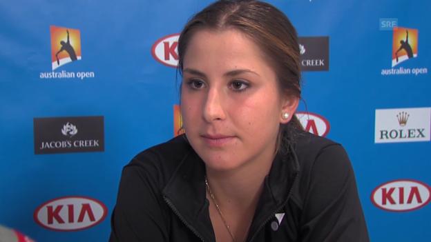 Video «Bencic über ihre nächte Gegnerin Bondarenko» abspielen