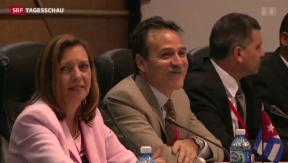 Video «Diplomatische Gespräche zwischen Kuba und den USA aufgenommen» abspielen