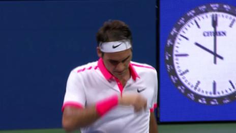 Video «Tennis: US Open 2015, Achtelfinal, Roger Federer - John Isner» abspielen