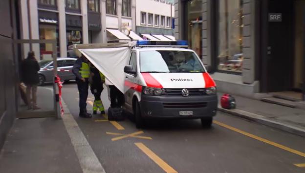 Video «Polizei riegelt Teile der Zürcher Innenstadt ab» abspielen
