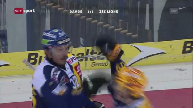 Video «Eishockey: Davos-ZSC Lions» abspielen