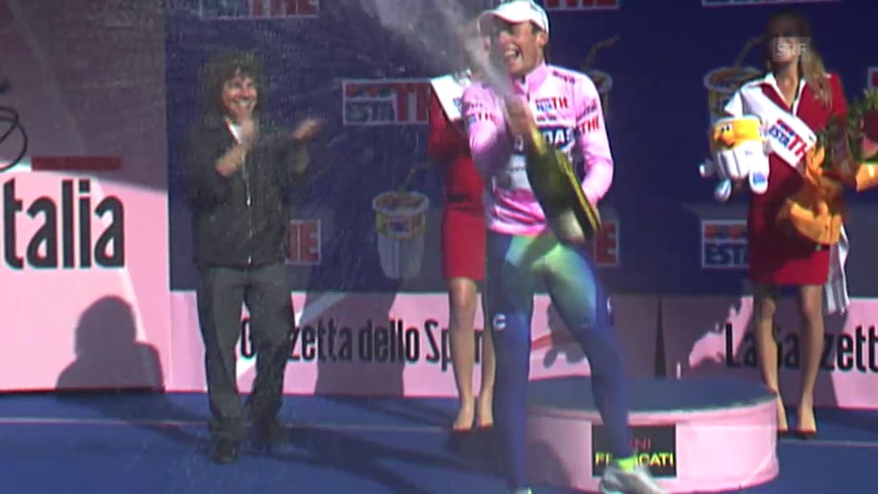 Di Luca bei seinem Giro-Sieg 2007 (SRF-Archiv)