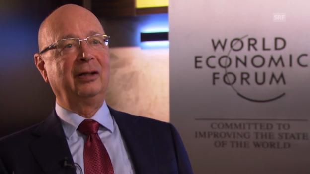 Video «Interview zum WEF-Start mit Klaus Schwab» abspielen