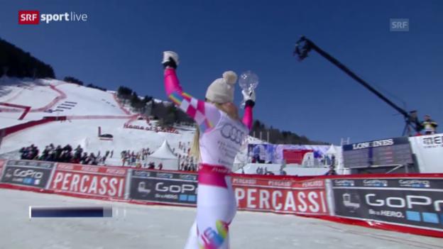 Video «Ski alpin: Abfahrt der Frauen in Meribel» abspielen