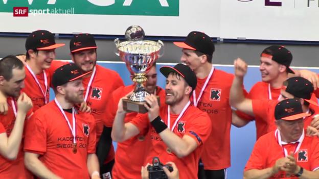 Video «Handball: Kadetten Schaffhausen sind Meister» abspielen