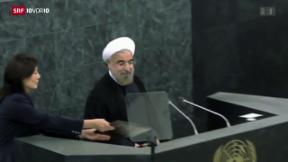 Video «Rohani sucht Anschluss an die Welt» abspielen