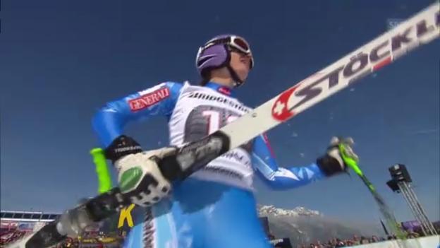 Video «Frauen-Abfahrt in Garmisch: Fahrt von Tina Maze («sportlive»)» abspielen